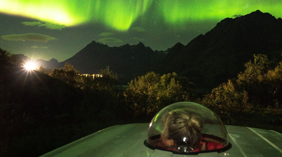 Camper van rental Northern Lights